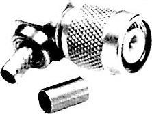 HYR-0210B (GT-210B) (TNC-7404B), Разъем TNC, штекер угловой, RG-59, обжим (Crimp)