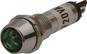 Фото 1/2 N-701G, Лампа неоновая с держателем зеленая 220V