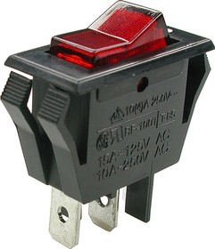 IRS-1-2B (красный), Выключатель с лампочкой ON-OFF(250В 10А) (B120C)