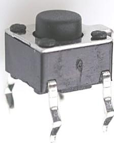 TC-0113, Кнопка тактовая с заземлением 6х6мм, h=5мм (TS-A2PG-130)