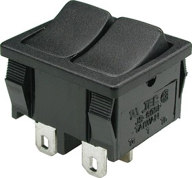 MRS-2101-С1-B/B, Переключатель двухклавишный 2хON-OFF (3A 250VAC) (JS606)