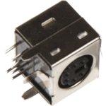 Mini DIN (6 pin) (DS1093-01-6), Розетки экранированные на плату угловые для компьютера