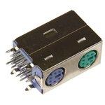 Mini DIN 2 (DS1094), Розетки экранированные на плату угловые ...