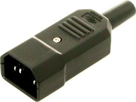 Фото 1/3 AS-413 (K2416) (AC-101), Евровилка сетевая на кабель (IEC 60320 C14)