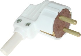 Фото 1/2 Вилка штепсельная угловая с кембриком 16А 250В ( В16-001 )