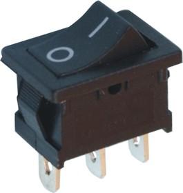 MRS-103A-C3-B, Переключатель ON-OFF-ON (6A 250VAC) SPDT 3P, черная клавиша
