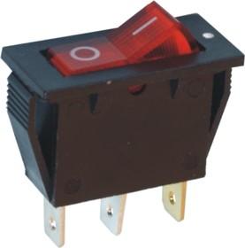 Фото 1/2 IRS-101-2B3 (красный), Переключатель с подсветкой ON-OFF (15A 250VAC) SPST 3P