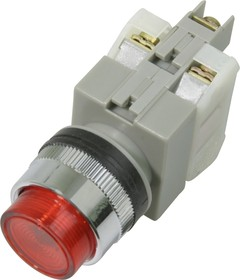 CA25-PE11N (красная), Кнопка с подсветкой Ф25