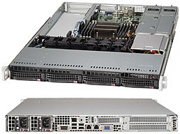 CSE-815TQ-R700WB, Корпус компьютерный Supermicro Black 1U SC815 WIO Chassis w/ Redundant 700W