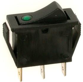 IRS-101E-1C (зеленый), Переключатель с подсветкой ON-OFF (15A 250VAC) SPST 3P