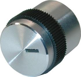 41005-1, D16мм, отв. 4мм, Ручка металлическая (пластмассовая вставка)