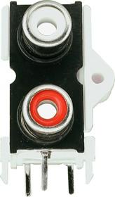 RS-209 (MJ-519), RCA JACK 2 разъема на плату (вертикальный)