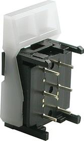 Фото 1/2 HS-010A2L, Выключатель клавишный (30В 0.3А)