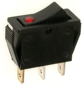 IRS-101E-1C (красный), Переключатель с подсветкой ON-OFF (15A 250VAC) SPST 3P