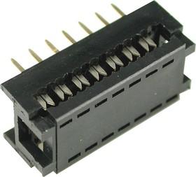 DIP-14 (DS1019-14N), Разъем узкий DIP на шлейф 14 контактов (OBSOLETE)