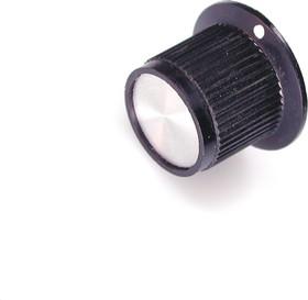 41006-1, D14.5мм, отв. 6мм, Ручка пластмассовая ( металлическая вставка)
