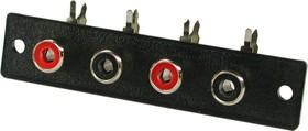 RS-482, RCA JACK 4 разъема на плату (горизонтальный) ( OBSOLETE)