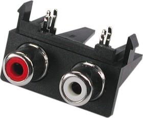 RS-211, RCA JACK 2 разъема на плату (горизонтальный)