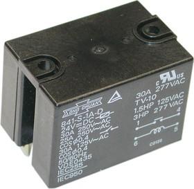 Фото 1/2 841-S-1A-D 24VDC, Реле 1зам. 24В / 30A, 250V