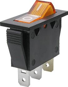 Фото 1/2 IRS-101-2B3 (желтый), Переключатель с подсветкой ON-OFF (15A 250VAC) SPST 3P