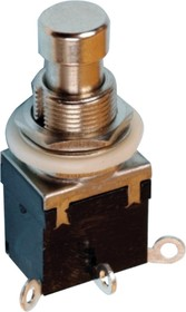 PBS24-102, Кнопка металлическая 3pin ON-ON 250/2А