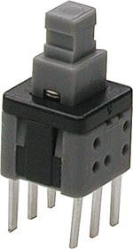 Фото 1/2 PB-22E70, Кнопка миниатюрная без фиксации, 5.8х5.8 мм (0.1A 30VDC) (PS580N)