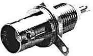 HYR-0124A (GB-124A) (BNC-7032), Разъем BNC, гнездо, панель, под гайку (Bulkhead) длинная резьба (OBSOLETE)