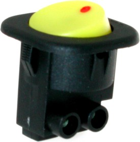 MRS-101-7C2-Y, Переключатель ON-OFF (6A 250VAC) SPST 2P, желтая клавиша