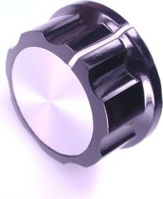 41009-5, D34.3мм, отв. 6мм, Ручка металлическая (пластмассовая вставка)