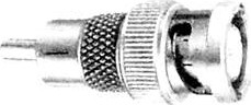 Фото 1/2 HYR-0152 (BNC-7055) (GB-152) (BNCP-RCAP), Штекер - RCA штекер, переходник