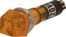 N-815Y, Лампа неоновая с держателем желтая 220V