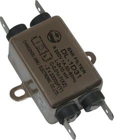 DL-1D31, 1А, 250В, Сетевой фильтр
