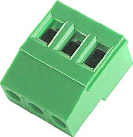 EK508R-03P, Клеммник 3-контактный, 5.08мм