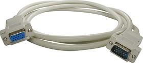 XYC026 (1.8м), Удлинитель кабеля монитора VGA,SVGA HDB15F-HDB15M