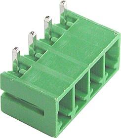 KLS2-EDR-3.81-04P-4 (ECH381R-04P), Клеммник 4-контактный, 3.81мм, угловой
