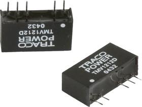 TMV 1212S, DC/DC преобразователь, 1Вт, вход 10.8-13.2В, выход 12В/80мА