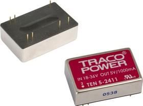 TEN 5-1221, DC/DC преобразователь, 6Вт, вход 9-18В, выход 5,-5В/500мA