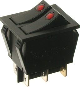 IRS-2101E-1C, Переключатель красный ON-OFF 6pin (250В 15А)