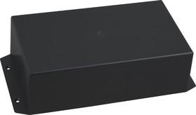 Фото 1/4 G1025BF, Корпус для РЭА 225х113х63мм, пластик, черный с крепежным фланцем