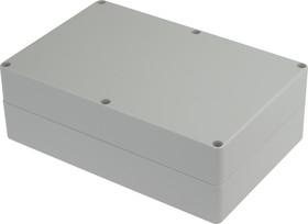 Фото 1/4 G232, Корпус для РЭА 222х146х75 мм, пластик, светло-серый