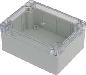 Фото 1/5 G212C, Корпус для РЭА 115х90х55 мм, пластик, с прозрачной крышкой