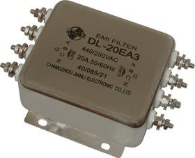 DL-20EA3, 20А, Трехфазный сетевой фильтр
