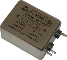 DL-6DZB21, 6А, 250В, Сетевой фильтр