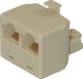 SS302 (8P8C) (KLS12-177-8P8C-I-01), Двойник, 1вилка - 2 гнезда TA202