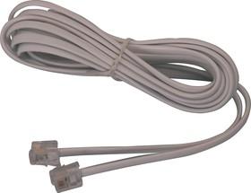 FD-6113 (18-3021-01), Удлинитель телефонный 2м белый 6P-4C