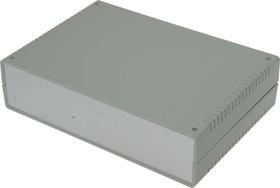 Фото 1/3 G758A, Корпус для РЭА 260х180х65 мм, пластик, светло-серый, алюминиевая панель