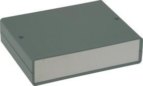 Фото 1/2 G706A, Корпус для РЭА 140х110х35 мм, пластик, темно-серый, алюминиевая панель