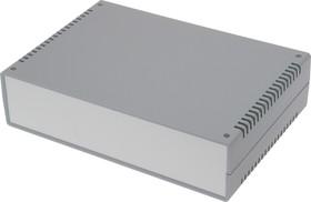 G729V, Корпус для РЭА 260х180х65 мм, пластик, темно-серый, светло-серая панель, с вентиляц. отв.