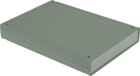 G769A, Корпус для РЭА 200х280х40 мм, пластик, светло-серый, алюминиевая панель