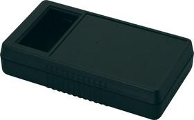 Фото 1/2 G968B(O), Корпус для мультиметра с отверстием под ЖКИ 180х100х40 мм, пластик, черный (+отсек для батареек)